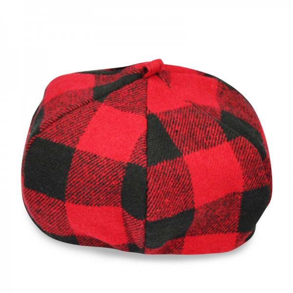 Acrylic Plaid Beret Hat