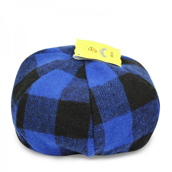 Acrylic Plaid Beret Hat 123