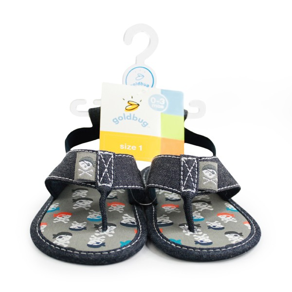 Boys Chambray Pirate Flip Flop
