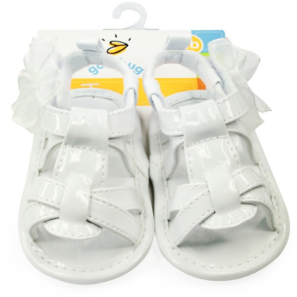 Girls White Patent Sandal
