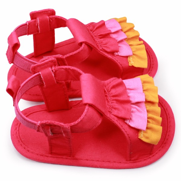 Girls Ruffle Sandal -TC sole